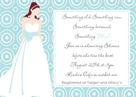 Something Blue Bridal shower Invitations