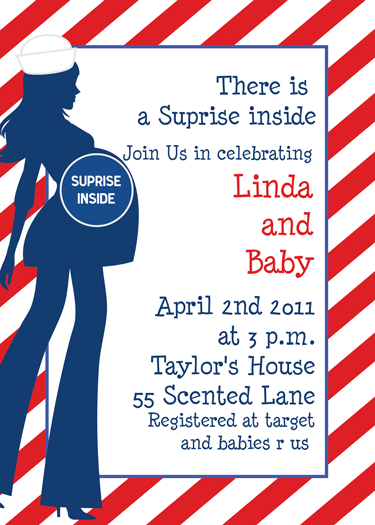 surprise inside baby shower invitation